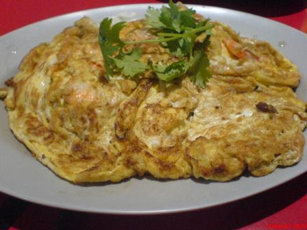 Wei Xiang Kitchen omelette with prawns